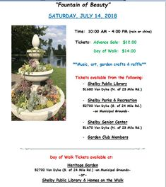 Shelby Garden Walk July 14, 2018, Shelby Charter Township, MI.