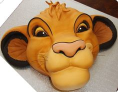 Simba Cake. Sadly, no word on who made this awesome cake. But, whoever you are, Hakuna Matata!