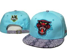 NRL Snapback Hats Snakeskin Penrith Panthers Blue only 7.9 Penrith Panthers 86efbd56bcb0