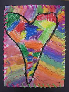 JIM DINE HEARTS FOR 1 and 2....yarn stitching
