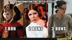 Padme, Leia, and Rey