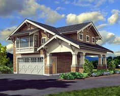 Craftsman Garage Apartment - 23484JD | Carriage, Cottage, Craftsman, Narrow Lot, Photo Gallery, 2nd Floor Master Suite, CAD Available, PDF | Architectural Designs