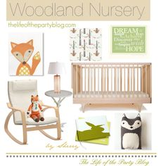 Woodland Nursery Inspiration by The Life of the Party blog.