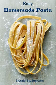 Making fresh homemade pasta at home is deliciously simple and can be cooked right away or dried for long-term storage.