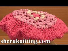 Crochet Flower Beret For Girls Tutorial 7 Part 2 of 2 Free Crochet Beret Hat Pattern