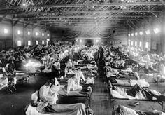 On the morning of March 11, 1918 a Private at Fort Riley, Kansas reported to the hospital complaining of flu-like symptoms. By noon over 100 more fellow soldiers had joined him. It's believed that these were the first cases of the 1918 influenza epidemic, later dubbed The Spanish Influenza. From there it spread quickly, following American soldiers traveling to the front. By the end of 1918 it had killed between 20-30 million people worldwide, making it even deadlier than World War I itself.