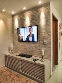 Tv Living Room Ideas 2018, Living Room Tv Unit Designs, Living Room Wall Units, Living Room On A Budget, Living Room Remodel, Living Room Decor, Tv Cabinets, Buy Tv, Wall Tv