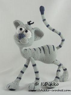 Amigurumi Crochet Pattern Kit the Cat от IlDikko на Etsy