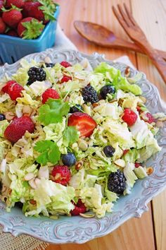 Very Berry ~4 kinds of Berries~ Napa Cabbage Salad / Patty's Food