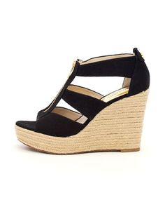 Damita Canvas Wedge by MICHAEL Michael Kors at Neiman Marcus. I've got these in navy and now I want them in every color!