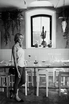 Holiday Bar, a cool lunch spot with cacti and great food in Helsinki, Finland - Anna Pauliina, Arctic Vanilla blog. Photo by Petra Veikkola.