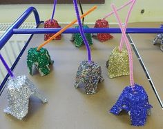 Glitter Egg Cup Bells - always my favorite!
