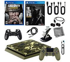 Sony PlayStation 4 1TB LE Camo w/ Call of DutyWWII & More