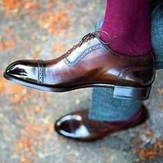 Handcrafted Leather Shoes for Sale Sock Shoes, Shoe Boots, Spectator Shoes, Men Dress, Dress Shoes, Gentleman Shoes, Fashion Shoes, Mens Fashion, Style Fashion