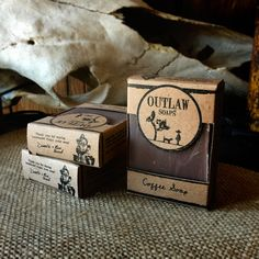 Handmade Coffee Soap - Outlaw Soaps Western Soap and Lotion for Lovers of the Wild West Coffee Soap, Best Cleaning Products, Cold Process Soap, Bar Soap, Whiskey, Soaps, Handmade, Packing, Natural
