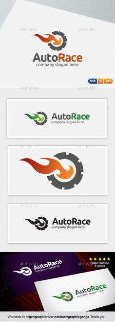 Auto Race Logo Design Template Vector #logotype Download it here: http://graphicriver.net/item/auto-race/10822250?s_rank=1193?ref=nesto