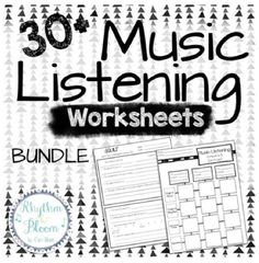 Music Listening Worksheets | 30 Worksheet Bundle - https://bluebirdmusiclessons.wordpress.com/2016/08/21/music-listening-worksheets-30-worksheet-bundle/