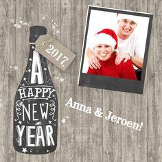 Happy New Year foto, verkrijgbaar bij #kaartje2go voor €