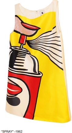 Lisa Perry Dress, limited edition Capsule Collection, Roy Lichtenstein's Spray,1962