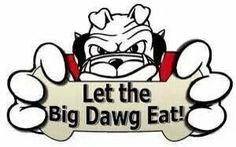 Let the Big Dawg eat! Funny Audio, Football Player Gifts, Georgia Bulldogs Football, School Spirit Shirts, Bulldog Mascot, Georgia Girls, Football Quotes, College Football Teams, University Of Georgia