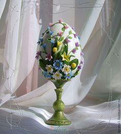 """Купить Пасхальный сувенир. Яйцо """"Букет"""". - Пасха, подарки к праздникам, подарки к пасхе, сувениры"""
