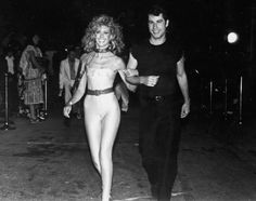 """Olivia Newton-John was still channeling Sandy's Spandex-loving days when she squeezed into this skin-tight ensemble for a """"Grease"""" premiere afterparty in 1978. The English-born Australian actress, who started her career as a country singer, instantly skyrocketed to fame following the film's debut."""