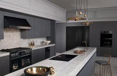 Dacor's truefit integration combined the modern look of graphite stainless steel is designed to seamlessly blend in with a wider range of cabinetry. Photo of The Modernist Collection by Dacor