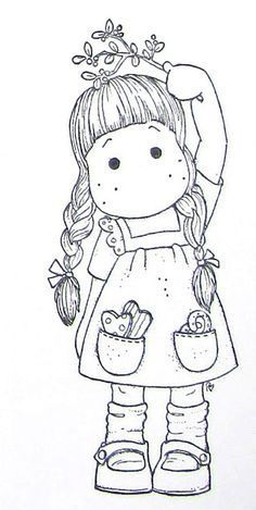 Coloring Page Christmas Tilda's - Bing Images