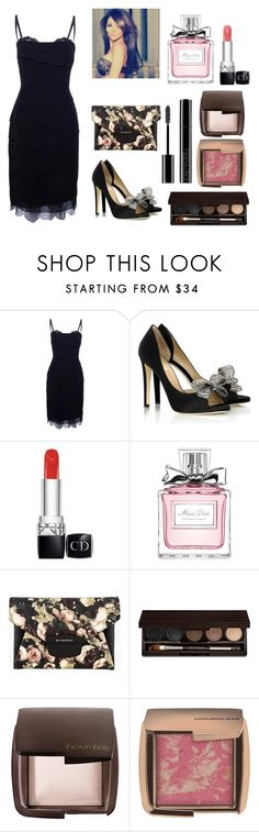 """Final Kiss"" by megschritt ❤ liked on Polyvore featuring Dolce&Gabbana, Valentino, Christian Dior, Givenchy, Laura Mercier, Hourglass Cosmetics and Giorgio Armani"
