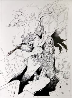Tiny Paper World — Artorias from Dark Souls Done for LeePineas a...
