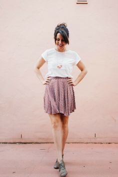 Cirque Du Bebe: The Perfect Pair // Rust Dot Culottes-- Using Tania Culottes Sewing Pattern