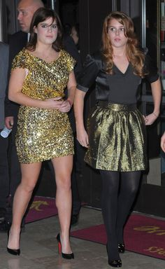 Princesses Eugenie and Beatrice in December 2009.