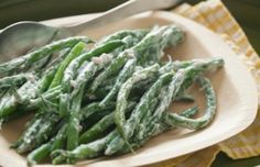 Stringbeans with Dill Yogurt sauce