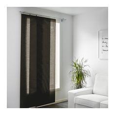 schiebe-gardine fürs wohnzimmer in braun und beige mit ... - Ikea Wohnzimmer Braun
