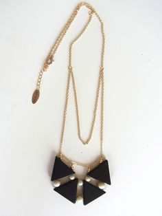 Kuro Sankaku Necklace. $37.00, via Etsy.