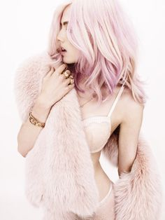 Wish I could do this to my hair! Love the 'Pink Hair' trend! ♥ #LEGiTSummer2012