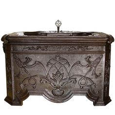 Luxurious 18th Century Wrought Iron Chest | From a unique collection of antique and modern curiosities at https://www.1stdibs.com/furniture/more-furniture-collectibles/curiosities/
