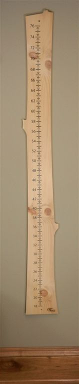 a wood growth chart for kids...  seriously, so cute