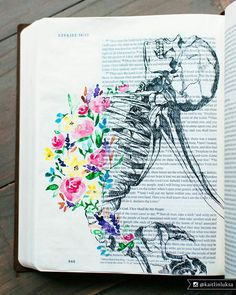 ezekiel bible journal page Faith Bible, My Bible, Bible Art, Bible Verses, Ezekiel Bible, Ezekiel 37, Ezekiel Dry Bones, Bible Journaling For Beginners, Art Journaling