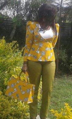 Lovely ankara jacket ~African Prints, African women dresses, African fashion styles, african clothing