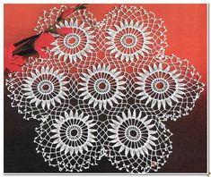 Next Post Previous Post Centrino all'uncinetto composto da piccoli centrini Crochet doily composed of small doilies Crochet Chart, Crochet Motif, Crochet Doilies, Crochet Lace, Crochet Stitches, Crochet Patterns, Crochet Tablecloth, Wedding Fabric, Cotton Crochet