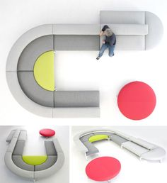 Cool Curved Couch: Design Your Own Custom Sectional Sofa | Designs & Ideas on Dornob
