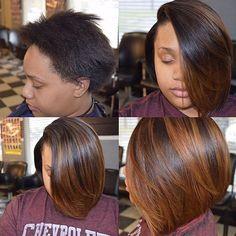 STYLIST FEATURE Nice bob transformation araredash  Love the haircolor   louisianastylist haircut sewin voiceofhair