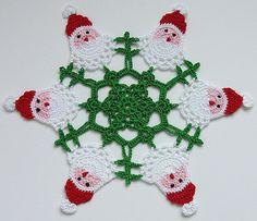 Santa Doily....<3