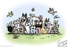 Simon's Cat is an animated cartoon and book series by the British animator Simon Tofield featuring a hungry house cat who uses increas. Simons Cat, Crazy Cat Lady, Crazy Cats, Cute Kawaii Animals, Warrior Cats Art, Pet Day, Illustrations, Animals Of The World, Funny Animal Pictures
