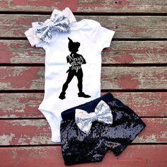 Never Grow Up Bodysuit Baby Girl Lost Boys by GLITTERandGLAMshop