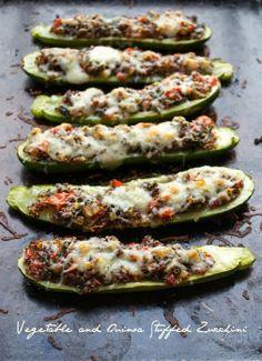 Quinoa and Vegetable Stuffed Zucchini