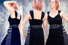 Black Sash  Gypsy Style Clothing  Guatemalan by brizel4TheAnimals