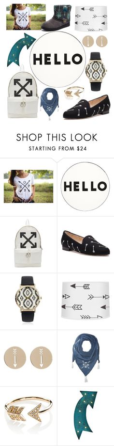 """""""Arrows"""" by hejamieson ❤ liked on Polyvore featuring Lisa Perry, Off-White, Jon Josef, Journee Collection, Bony Levy, BCBGeneration, EF Collection, Graham & Brown and Muk Luks"""