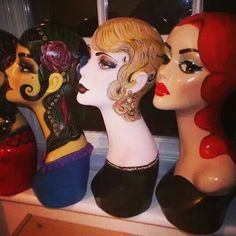 Collection of mannequin head #eviesweetie